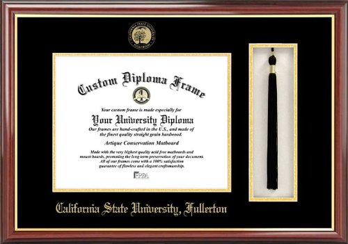NCAA Cal State Fullerton Titans Tassel Box and Diploma Frame by Campus Images