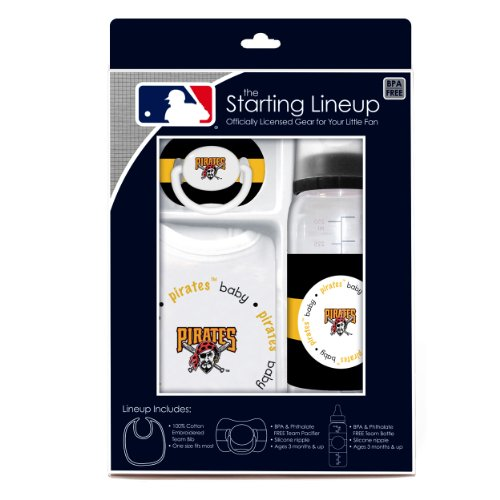 MLB Pittsburgh Pirates Gift Set (Baby Pirate Pacifier)