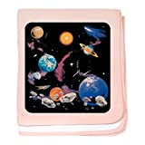 Royal Lion Baby Blanket Solar System And Asteroids - Petal Pink
