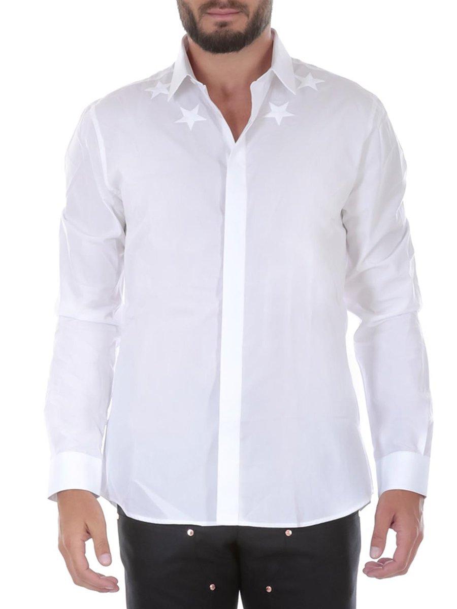 GIVENCHY Men's Cotton Shirt - White, 43 (cm - 17 inches - Collar)