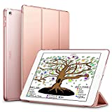 ESR iPad 9.7 2018 / 2017 Case, Lightweight Smart Case Trifold Stand with Auto Sleep/Wake Function, Microfiber Lining, Hard Back Cover for Apple iPad 9.7-inch,Rose Gold