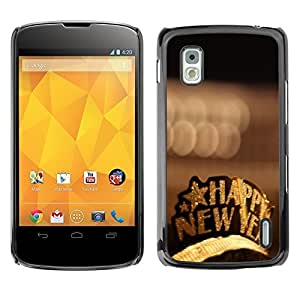 YOYO Slim PC / Aluminium Case Cover Armor Shell Portection //Christmas Holiday Happy New Year 1220 //LG Google Nexus 4