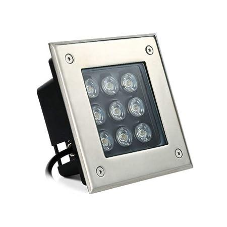 KMYX Proyector 9W enterrado Luz LED subterránea Luz subterránea ...