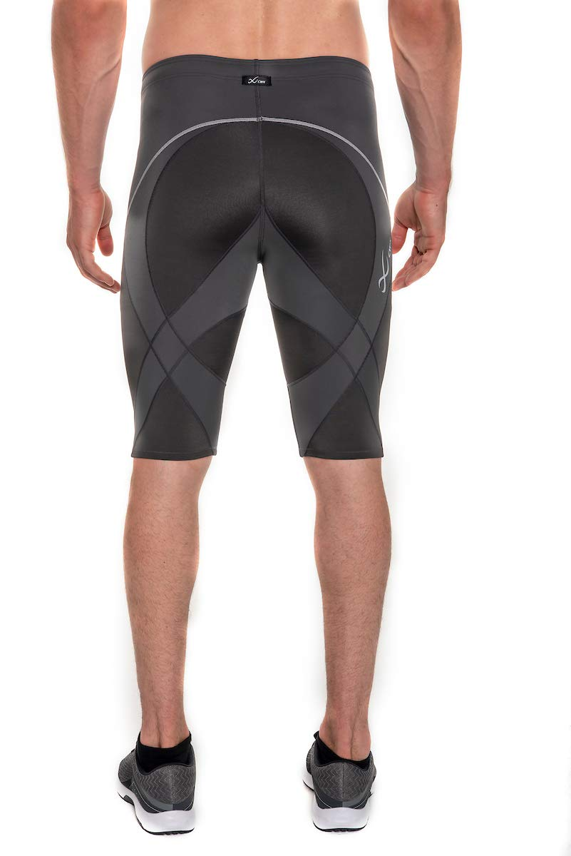 CW-X Men's Endurance Pro Shorts, Charcoal/Charcoal/Silver, Medium by CW-X (Image #3)