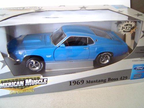 ERTL Elite 1969 Ford Mustang Boss 429 Blue - Mustang Boss 429 Model