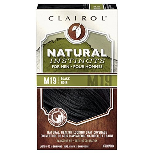 Clairol Natural Instincts Hair Color For Men M19 Black 1 Kit (Pack of 3) - PACKAGING MAY VARY