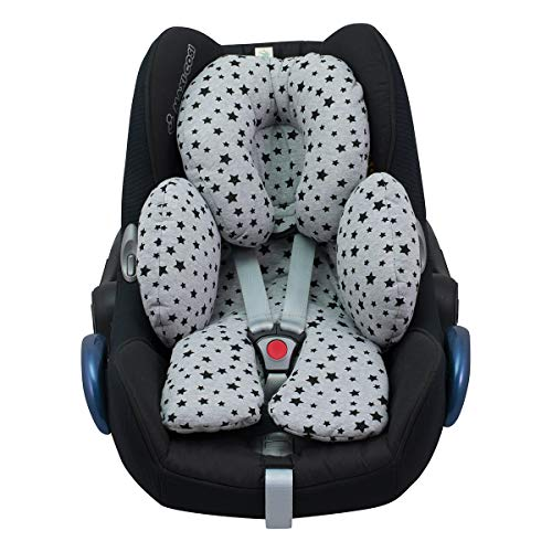 Reducer Cushion Infant Head & Baby Body Support Antiallergic Janabebe Black Star