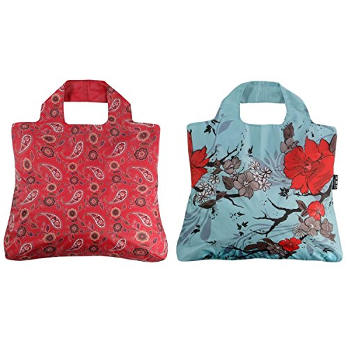 Envirosax Reusable Shopping Bags (Set of 2), Red & Blue