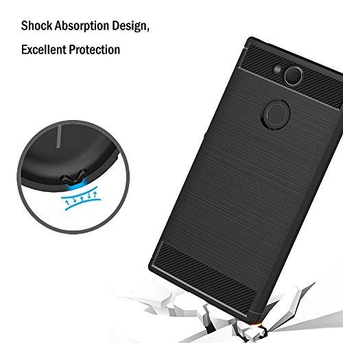 PREVOA Funda para Sony Xperia XA2 - Colorful Silicona TPU Funda Case para Sony Xperia XA2 Smartphone - 17 Verde