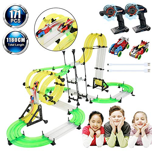 Racing Track Car Toys, Elec3 DIY Rail Car Race Track for sale  Delivered anywhere in USA