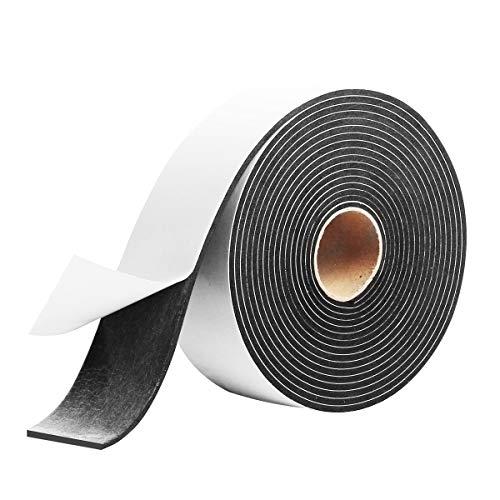 Window Door Seal Tape,High Density Foam Insulation Tape,Adhesive Weather Stripping Foam Tape, Foam Seal Proofing Tape,2 Inch Wide X 1/8 Inch Thick X 16 Feet Long,YIJU ...
