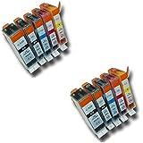 Prestige Cartridge PGI-520/CLI-521 - Pack de 10 cartuchos de tinta para Canon Pixma Serie, negro/fotográfico negro/cian/magenta/amarillo