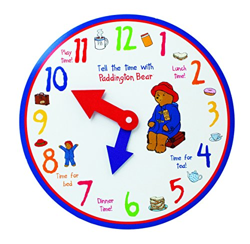 Paddington Learn to Tell The Time Wooden Clock,by Rainbow ()