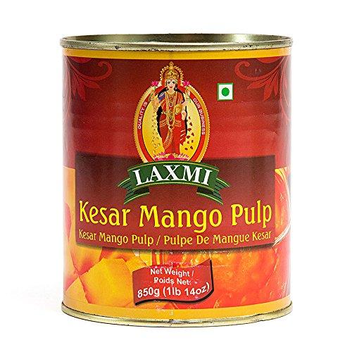 Laxmi All-Natural Kesar Canned Mango Pulp - 850gm by Laxmi