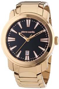 Pierre Cardin PC102541F03 - Reloj analógico de cuarzo para hombre con correa de acero inoxidable, color dorado