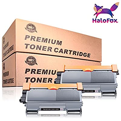 HaloFox High Yield Compatible Black Toner Replacement For Brother TN450 TN420 HL-2270DW HL-2240 HL-2280DW Intellifax 2840 MFC-7360N MFC-7860DW MFC-7460DN DCP-7065DN Printers (With Premium Toner)