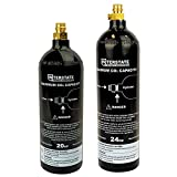 Interstate Pneumatics WRCO2-CL20 20 Oz & WRCO2-CL24 24 Oz. CO2 Pin Valve Cylinder Tank Paintball 2 Pack
