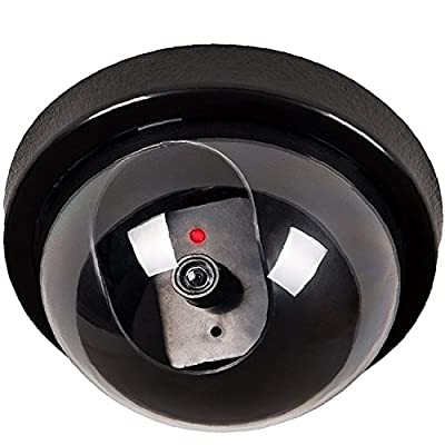 WALI Dummy Fake Security CCTV Dome Camera with Flashing Red LED Light