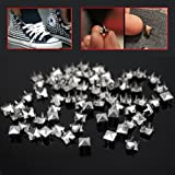 200 pcs 7mm Pyramid Studs Spots Nickel Punk Rock