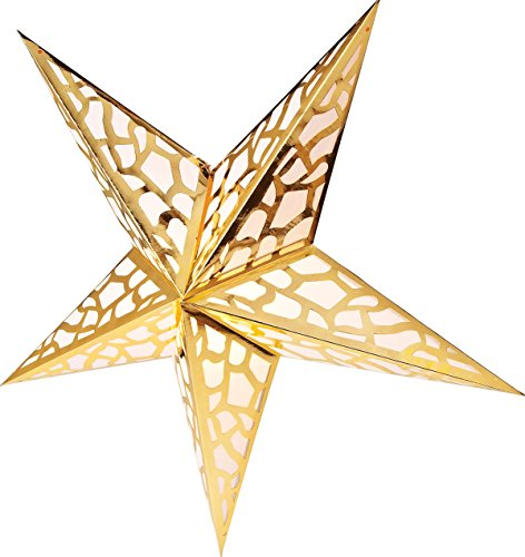 Luna-Bazaar-Paper-Star-Lantern-24-Inch-Gold-For-Home-Decor-Parties-and-Holiday-Decorations
