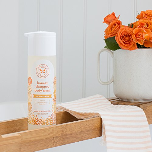 Large Product Image of Honest Perfectly Gentle Hypoallergenic Shampoo and Body Wash with Naturally Derived Botanicals, Sweet Orange Vanilla, 10 Fluid Ounce