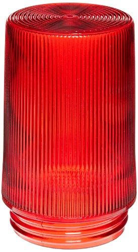 RAB Lighting GL100PGR 100 Series Vaporproof Flat Bottom Threaded Prismatic Glass Permaglobe, 75W Power, Ruby by RAB Lighting