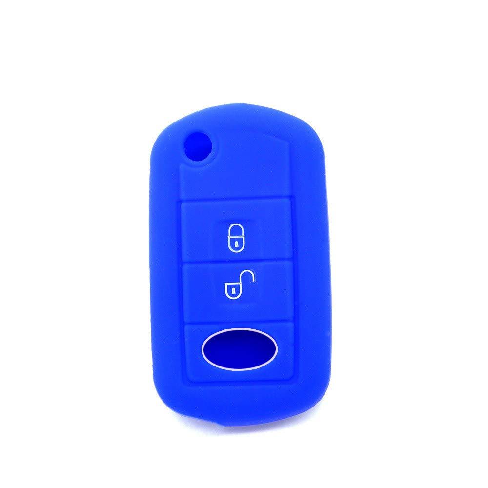 Silicona Funda Protectora de Silicona para Llave de Coche para Freelander Evoque Discovery LR3 LR4 Sport Key Case Skin Jacket Rosa//Rojo
