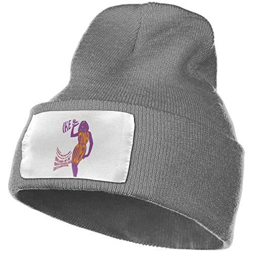 Wwdcd Men&Women Cartoon Tina Turner Cuffed Plain Skull Knit Hat Cap Skull Cap for Men and Women Deep Heather