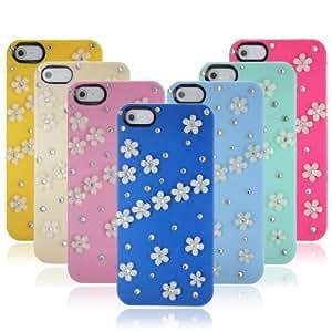 Flower Sparkle Bling Crystal Diamond Slim Hard Case For iPhone 5.