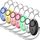 130dB Personal Alarm Keychain, 7 Pack Emergency Safesound and Self Defense Security Siren Alarms with LED Light for Women, Kids, Elderly, Adventurer, Night Workers
