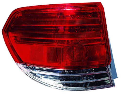 Outer Taillight Taillamp Brake Light Left Driver Side Rear for 08-10 Odyssey