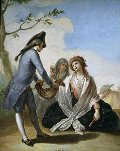 Polyster Canvas ,the Vivid Art Decorative Canvas Prints Of Oil Painting 'Bayeu Y Subias Ramon Obsequio Campestre Ca. 1778 ', 16 X 20 Inch / 41 X 51 Cm Is Best For Nursery Decoration And Home Artwork And Gifts (Best Dive Log App)