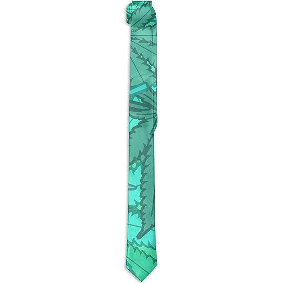 Corbata formal de seda, con diseño de hoja de marihuana, color ...