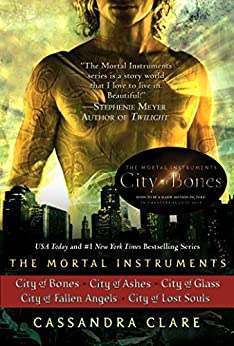 Cassandra Clare: The Mortal Instruments Series (5 books): City of Bones; City of Ashes; City of Glass; City of Fallen Angels, City of Lost Souls by [Clare, Cassandra]