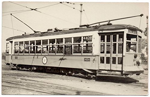 RP Postcard 4408 Lexington Street Trolley in/near Boston (Lexington Street)