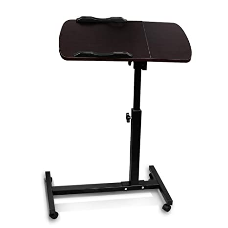Adjustable Computer Desk, Paymenow Height Rolling Laptop Carts Portable  Table Sofa Breakfast Tray Side Table