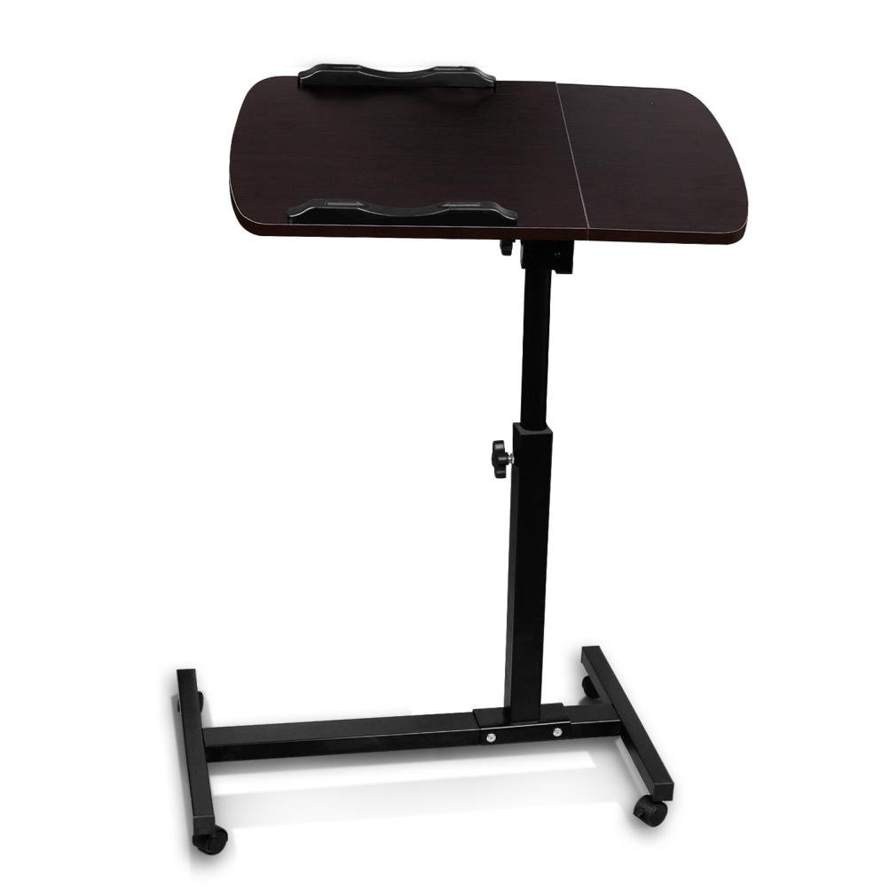 Adjustable Computer Desk, Paymenow Height Rolling Laptop Carts Portable Table Sofa Breakfast Tray Side Table Standing Bed Desk (Brown)