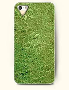 OOFIT Stylish Malachite Pattern Case for Iphone 5 / 5S - kelly Green Leaves