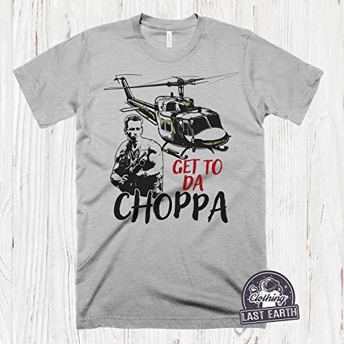 Get To Da Choppa Tshirt for Men, Women. Heather Gray or Blue