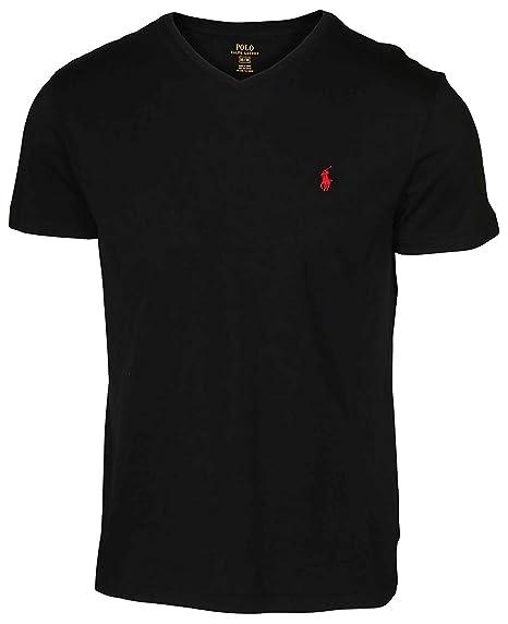 black and red ralph lauren t shirt