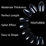 600pcs Clear Stiletto Nail Tips Short Full Cover