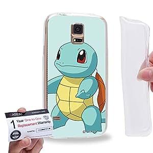Case88 [Samsung Galaxy S5] Gel TPU Carcasa/Funda & Tarjeta de garantía - Pokemon Squirtle 0791
