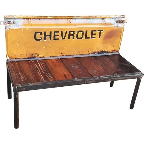 Swell Amazon Com Repurposed Chevy Truck Tailgate Garden Bench Caraccident5 Cool Chair Designs And Ideas Caraccident5Info