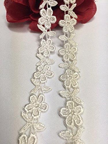 (Lace Applique Pair Venise Rose Design Embroidered, 4