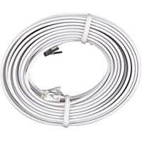 Permo 100 Feet White Telephone Extension Cord Cable Line Wire