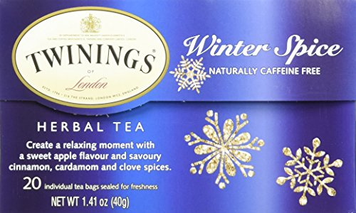 Spice Natural Herbal Tea (Twinings Herbal Tea, Winter Spice, 20 Count)