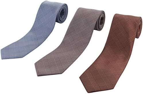 Set of 3 Elegant Neck Ties By Mens Collections - Multiple Sets to Chose From