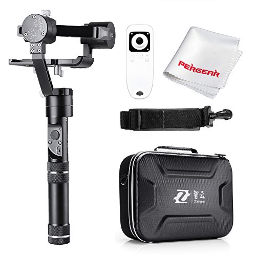 Zhiyun Crane M 3 Axis Brushless Handheld Gimbal with Wireless Controller and Phone Holder - 360 Degree Unlimited Rotation 12 Hours Running Time for Smartphones/Action Cameras/DC/Mirrorless Cameras by Zhiyun