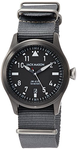 Jack Mason Aviator Watch 42mm Gunmetal/Grey/Olive G