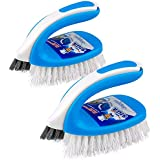MR.SIGA Scrub Brush Grout Cleaner Brush 2 in 1, Pack of 2